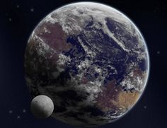 Bolivar is a planet with a rating of on the Earth Similarity Index and on the Human Habitability Index. Sistema Solar, Cosmos, Planet Design, Planets And Moons, Alien Planet, Alien Worlds, Astronomy, Universe, Concept Art