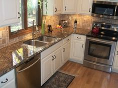 kitchens with baltic brown granite countertops Brown Granite Countertops, Granite Kitchen, Kitchen Backsplash, Kitchen Countertops, Kitchen Appliances, Tan Brown Granite, Backsplash Ideas, Diy Kitchen Cabinets, Painting Kitchen Cabinets