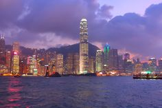 HK at Dusk - Central, Hong Kong.
