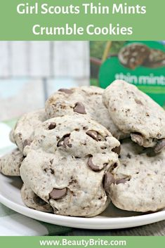 Girl Scouts Thin Mints Crumble Cookies #girlscouts #girlscountscookies #girlscoutsthinmints #cookies #yum #food #recipe #cookierecipe
