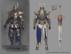 Copyright Natgames all rights reserved. Fantasy Male, Fantasy Armor, Fantasy Weapons, Medieval Fantasy, Armor Concept, Concept Art, Character Concept, Character Art, Dnd Paladin