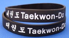 HOLY CRAP I want this so badly! It's a TKD rubber bracelt and Taekwon-Do is spelled right and it has it in Korean, too, and OH my gosh birthday idea, anyone? YAAAAY!