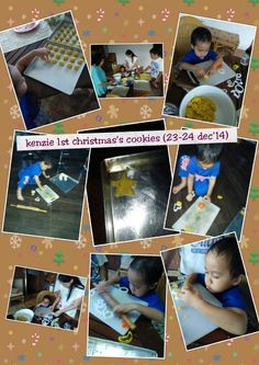 1st making cookies