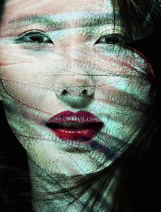 """In this work, magnificent textures and colors of enlarged butterfly wings are combined with female faces to create a unique twist on portrait photography. Carsten Witte fuses these two forms of natural beauty together in his series Camouflage. The manipulation of shadow and light leads the viewer to look directly into the eyes of his subjects. The natural allure of each female face perfectly combines with the intricate details of each butterfly wing. When photographing, Witte says, """"It's…"""