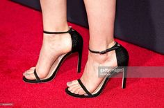 Kate Mara, shoe detail, attends the 'Fantastic Four' New York Premiere at Williamsburg Cinemas on August 4, 2015 in New York City.