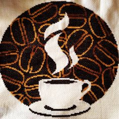 Inspirational schemes that we are keen on! Small Cross Stitch, Cross Stitch Kitchen, Cross Stitch Heart, Beaded Cross Stitch, Cross Stitch Patterns, Needle And Thread, Fabric Scraps, Perler Beads, Cross Stitching