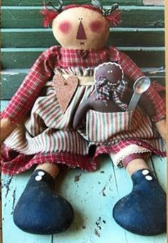 Emily Louise - Primitive Doll PATTERN - CK78