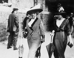 Mrs. W.K. Vanderbilt Strolling With Mrs. Cornelius Vanderbilt, ca 1890