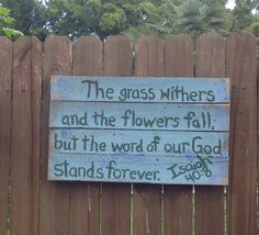 God's promise scripture  made with a pallet