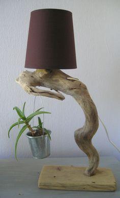 Lampes en bois flotté - Créations Au fil de l'eau