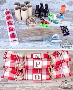 Traditional paper christmas cracker christmas pinterest easy diy tartan christmas crackers solutioingenieria Gallery