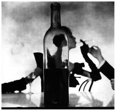 """Girl Behind Wine Bottle"", Jean Patchett photo by Irving Penn, 1949"