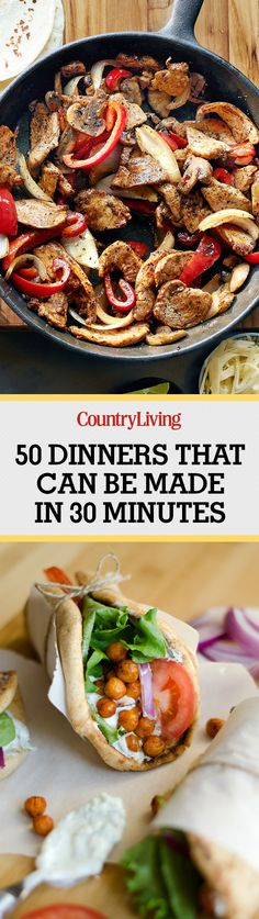 Don't forget to pin these easy and delicious recipes and follow Country Living on Pinterest for more great dinner ideas.
