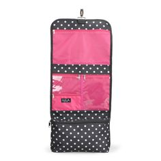 Carry all of your essentials in this Lula polka dot folding cosmetic bag. #Bentley