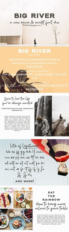 Sale! Big River | a font duo by Ana's Fonts on @creativemarket
