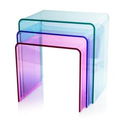 Buy the Multi Acrylic Nesting Side Tables at Oliver Bonas. We deliver Furniture throughout the UK within 5-12 working days from £14.