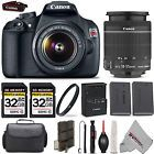 Canon EOS Rebel T5 1200D SLR Camera 18-55 IS Lens  64GB KIT  Case  More!