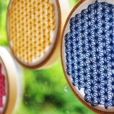 Japanese star pattern cross-stitch