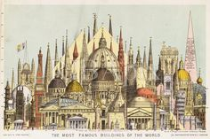 Fine Art Print-The most famous buildings of the world Fine Art Print on Paper made in the UK Cathedral Architecture, Religious Architecture, Ancient Architecture, Architecture Plan, Famous Buildings, Portrait Images, Chichester, Ravenna, Wonderful Images