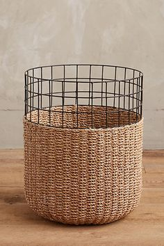 Memorial Day sale round up, Home Accessories, You guys, what better way to kick off the official start to summer with a HUGE sale? Thankfully, lots of brands have some incredible Memorial Day de. Rope Basket, Basket Weaving, Wire Baskets, Jute Crafts, Diy And Crafts, Chicken Wire, Weaving Patterns, Memorial Day, Diy Furniture