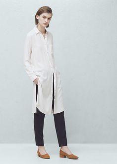 Flowy long shirt | MANGO
