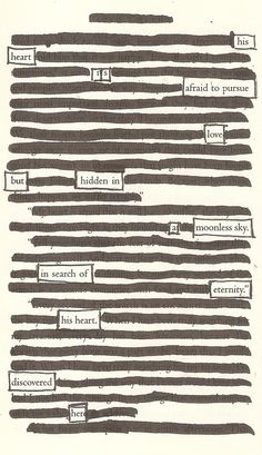 A Moonless Sky - Blackout Poem by Kevin Harrell www.blackoutpoetry.net