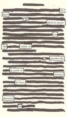 A Moonless Sky - Blackout Poem by Kevin Harrell www.blackoutpoetry.net