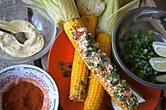 Рецепт. Елотес - мексиканская уличная кукуруза. (Elotes - Mexican street corn). Прогуливаясь по улицам мексиканских городков, Вы непременно остановитесь, что бы попробовать очередной уличный шлягер...