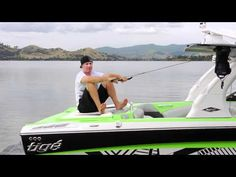 Tige Boat Instructional: getting up on wake surf board with Daniel Watkins.