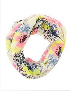Floral Print Infinity Scarf #charlotterusse #charlottelook