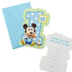 Mickey's 1st Birthday Invitations