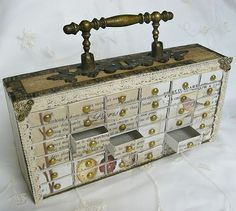Brilliant: yes, I will be making some of these :)   thanks, Shabby Chic Inspired: match box cabinet