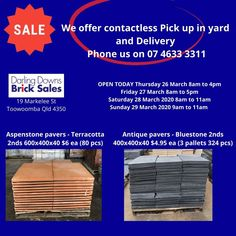 Our yard is open today until 4pm. Tap and pay preferred.  We can send images and offer contactless Pick up and Delivery.🚛 Phone us on 07 4633 3311.