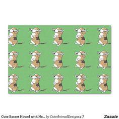 Cute Basset Hound with Newspaper X Tissue Paper Green Craft, Basset Hound, Tissue Paper, Newspaper, Parties, Entertaining, Cute, Crafts, Fiestas