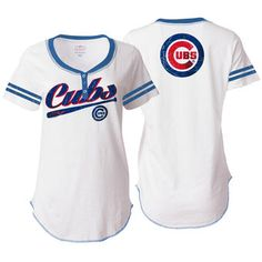 & Ocean by New Era Chicago Cubs Women's White Slub Jersey T-Shirt Dodgers Outfit, Dodgers Gear, Chicago White Sox, Boston Red Sox, Astros Apparel, Yankees Team, Henley Tee, Trends, New York Yankees