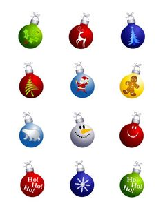 Decorated Christmas Ornament Edible Cupcake Toppers | My Party Helpers | http://mypartyhelpers.com/products/24-decorated-christmas-ornament-edible-cupcake-toppers