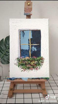 Easy Canvas Art, Simple Canvas Paintings, Small Canvas Art, Mini Canvas Art, Canvas Painting Tutorials, Diy Painting, Art Drawings Sketches Simple, Diy Art, Watercolor Art