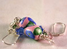 Earrings for Women, Dangle #Earrings , Handmade Earrings, Designer Earrings, Flower Earrings
