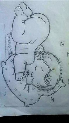 Pencil drawings easy sketches ideas awesome 54 - www. Easy Pencil Drawings, Art Drawings Sketches Simple, Girl Drawing Sketches, Girly Drawings, Cartoon Drawings, Drawing Simple, Baby Drawing Easy, Drawing Ideas, Baby Sketch