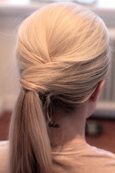Criss cross ponytail