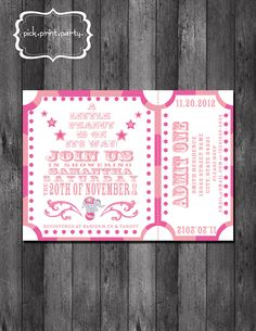Carnival Baby Shower Invitation  Little Peanut  by pickprintparty, $12.00