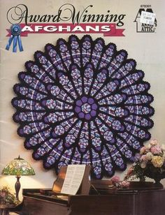 Cathedral Rose Window Afghan Crochet Pattern New Circle