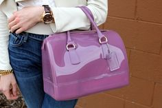 Lavender Furla Candy handbag...  I would love one of these!  #TheClassyTurtle