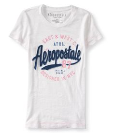 Aéropostale Camiseta Feminina Branca R$ 99