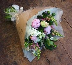 wrapped flowers
