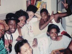 "Daryl ""Chill"" Mitchell, Kid, Martin Lawrence, A. Johnson, and Tisha Campbell on the set of House Party. My Black Is Beautiful, Black Love, House Party Movie, 90s Party, Kid N Play, Hip Hop And R&b, My Generation, Classic Movies, Movies Showing"