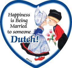 Heart Tile Magnet: Married To Dutch More