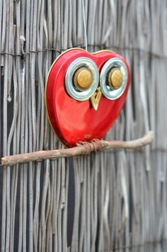 Tin Lid and Other Kitchen Metal Recycled Owl