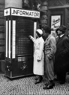 The Germans came up with an automated information kiosk.