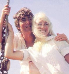 John and Cynthia Lennon in a very happy moment together